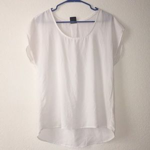 White Short Sleeve Bobeau Blouse